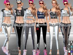 Sport Low-Rise Leggings by Pinkzombiecupcakes at TSR via Sims 4 Updates