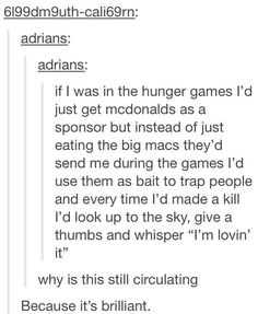 Hunger Games strategy