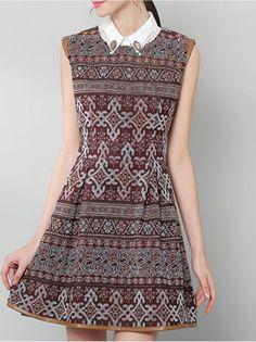 Jacquard Cotton-blend Mini Dress