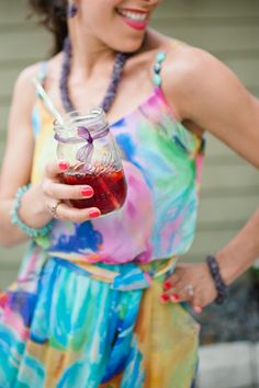 I love colour in a jar...or a dress ;-)