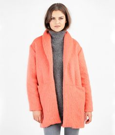 Sewing Pattern Coatigan Silvia is a short coat with oversized shoulders and an integrated shawl collar. There are pockets integrated into the cross seam in the front piece. You can sew a lined or an unlined version.fits women's sizes: 34/36/38/40/42/44/46Fabric Recommendation: light wool...