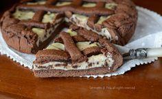 Crostata cacao ricotta e gocce di cioccolato