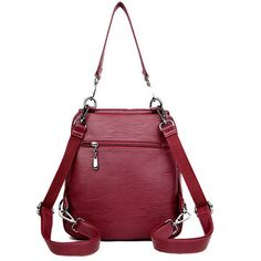 7615c563d9 Women Solid Casual Backpack Multifunctional Handbag Large Capacity Shoulder  Bag is designer, see other cute bags on NewChic.