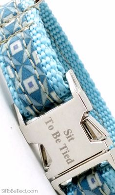Aqua dog collar, Perfect for summer, a pale turquoise dog collar for boys or girls. Beautiful color.