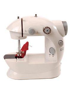 Blanc Sfit Kit Couture Mini Machine /à Coudre Portable Electrique Manuelle sans Fil pour Les D/ébutants