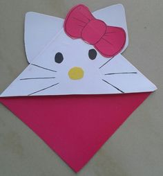 Hello kitty Corner bookmark                                                                                                                                                                                 Mais