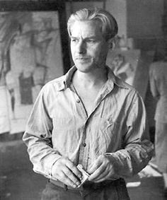Willem de Kooning, Dutch American painter. de Kooning painted in a style that came to be referred to as Abstract expressionism or Action painting, and was part of a group of artists that came to be known as the New York School. Can we just talk about this photo of him for a second? The cigarettes, the shirt collar, I mean, damn, is he modeling for Calvin Klein or something? I'm getting a little flustered.