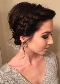 Braided updo for short hair!