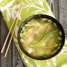 homemade Miso soup, yes please