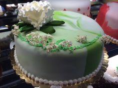 Simple Fondant Cake.  Choose any cake you like and add some fun with any Fondant Design #FondantCake