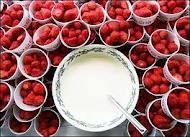 Wimbledon strawberries and cream.