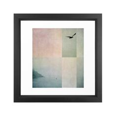 Invite the serenity of the seashore into your home with this Coastal Quiet Art Print. With a seagull in flight in the foreground and a foggy shoreline behind, this artistic print adds soft, inviting co...  Find the Coastal Quiet Art Print, as seen in the White Washed Industrial Collection at http://dotandbo.com/collections/white-washed-industrial?utm_source=pinterest&utm_medium=organic&db_sku=105798