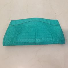 For Sale: REAL Crocodile Skin Clutch for $195