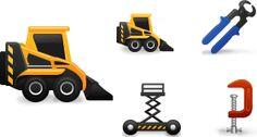Construction icon set | Read full article: http://webneel.com/post/freedownload/web-design/icon-design/construction-icon-set | more  | Follow us www.pinterest.com/webneel
