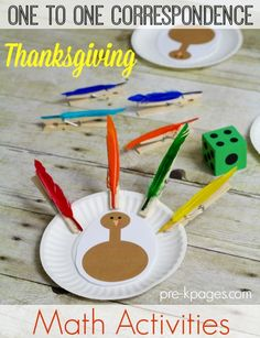 Counting Turkey Feathers Activity. Fun Math Activities for Preschool and Kindergarten. Hands On Activities to Help Kids in Preschool and Kindergarten Develop Number Sense.  Learn How to Count the FUN Way!