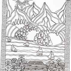 Color Me Calm adult colouring book by Art Therapist Lacy Mucklow