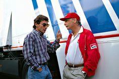 Senna e Lauda - 1° de maio de 1994.
