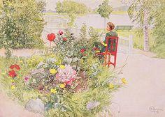 Summer In Sundborn Print by Carl Larsson
