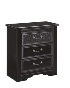 Cavallino Traditional Black Wood Large Night Stand