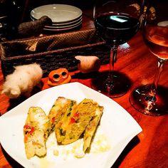 The sheep gave me omelette & wine yum #mizumushikun #kyoto #wine #omelette #food #foodie #yummy #nomnom #delicious #drinking #sheep #animal #aliens