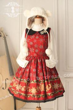 Miss Point Vintage Babydoll Collar Lolita Jumper Dress - Special Price