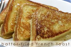 (Wasn't bad, wasn't great - but the kids liked it). Batter-fried French Toast | The Cupcake Theory