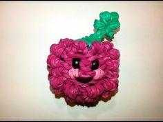 3-D Happy Raspberry or Blackberry Tutorial (Rainbow Loom)