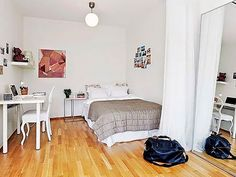 Dormitorio diáfano