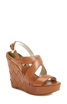 4a43ad0c37c0de Free shipping and returns on MICHAEL Michael Kors  Bennet  Leather Wedge  Sandal (Women