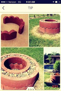 6 fire pits you can make in a day outdoor decorating projects, 31 diy outdoor fireplace and firepit ideas for the home diy, fire pit project (you can do in one hour!), 57 inspiring diy outdoor fire pit ideas to make s'mores with your family, Make A Fire Pit, Fire Pit Uses, Easy Fire Pit, Large Fire Pit, How To Make Fire, Outdoor Fire, Outdoor Living, Outdoor Decor, Outdoor Ideas