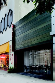 Love the wood facade - would look good with contrasting back-lit metal signage Yojisan Sushi restaurant in Beverly Hills, California. Storefront Signage, Metal Signage, Minimalist Architecture, Facade Architecture, Wood Facade, Restaurant Concept, Restaurant Ideas, Sushi Restaurants, Restaurant Interior Design