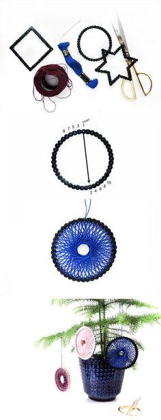 String Art \ Hama perler  DIY Christmas ornaments by Frk Hansen - b den f r k che