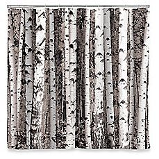 image of Kikkerland® Design Birch Shower Curtain