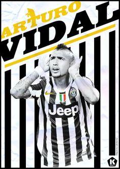 Fußball Stars - Arturo Vidal by Luke Barclay Superstar Football, Football Icon, Retro Football, Football Design, Football Soccer, Football Things, Soccer Art, Soccer Poster, Sports Graphic Design
