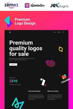 Logoster - Creative And Modern Logo Design Shop WooCommerce Theme Modern Logo Design, Custom Logo Design, Custom Logos, Seo Basics, Ecommerce Template, Premium Logo, Design Shop, Writing Services, Website Template