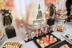 Vintage Parisian Bridal/Wedding Shower Party Ideas | Photo 25 of 26 | Catch My Party