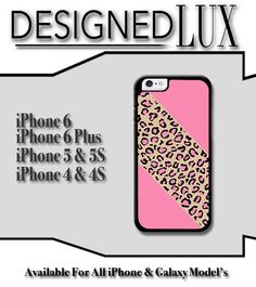 iPhone 6 Case/ Pink Leopard iPhone 6 Plus Case/ Cheetah iPhone 5/5S Case/ Name iPhone 4/4s Case by DesignedLUX on Etsy https://www.etsy.com/listing/213872198/iphone-6-case-pink-leopard-iphone-6-plus