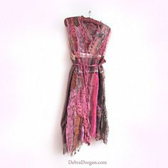 Swamp Dress Pink Vintage Boho Dress Antique by AllThingsPretty, $495.00