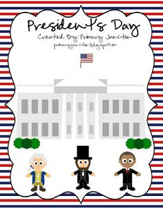 In case you haven't snagged my President's Day freebies yet , I'm sharing these again!  Here is a George Washington and Abraham Lincoln flue...