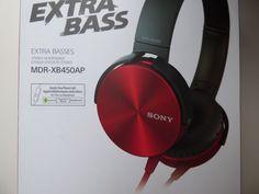 #Sony MDR-XB450AP Extra Bass Stereo #Headphone (Red) - Genuine