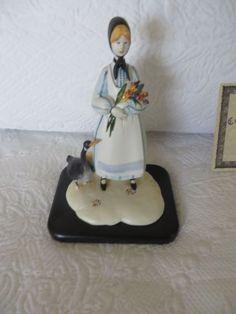 ANNA PERENNA ART P Buckley Moss Sculpture SPRING BOUQUET Gift 180/500