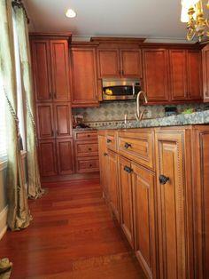 Vitoria Regia Granite. Beautiful distressed cabinets ...