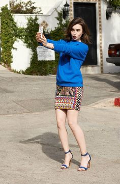 Lily Collins fotografiada por Todd Cole, 2014