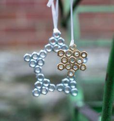 Make Hex Nut Snowflake Ornaments