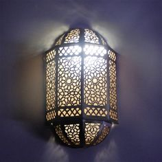 Wow check out this magnificent lamp shades - what an artistic theme Boho Lighting, Moroccan Lighting, Moroccan Lamp, Moroccan Design, Wall Sconce Lighting, Wall Sconces, Edison Lighting, Light Art, Design Marocain