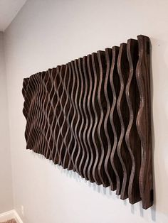 Wood Wall Art Parametric Sculpture Wood Sculpture Modenr
