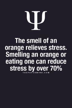 Oranje reduces stress