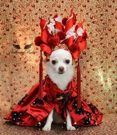 Small Dog Costume Ronald Mcdonald inspired Dress Harness Dog clothing