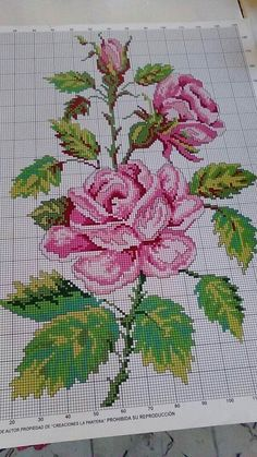This Pin was discovered by Ley Cross Stitch Bird, Cross Stitch Borders, Cross Stitch Flowers, Modern Cross Stitch, Cross Stitch Charts, Cross Stitch Designs, Cross Stitching, Cross Stitch Embroidery, Embroidery Patterns