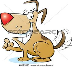 Vector - Happy Dog View Large Clip Art Graphic